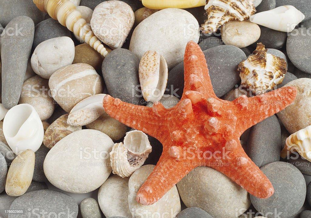 Background of round stones royalty-free stock photo