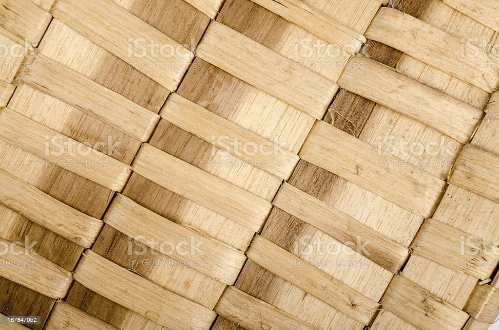 Background of rustic interlaced straw royalty-free stock photo