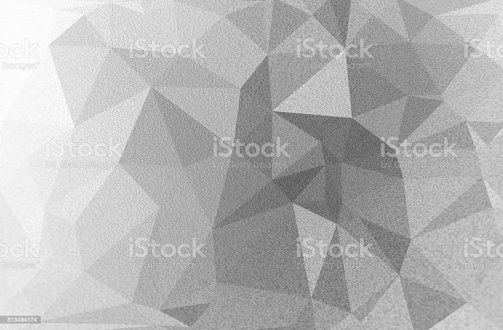 Background of silver polygons with texture stock photo