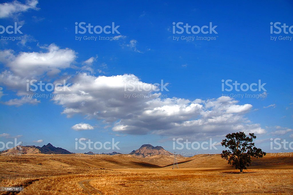 Background of sitter buttes with a clear blue sky stock photo