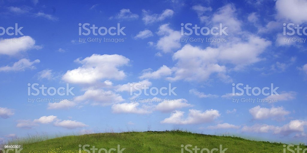 Background Of Sky And Clouds above the hill royalty-free stock photo
