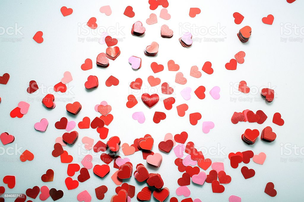 background of small paper heart stock photo