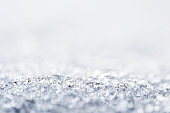 Background of snow close up