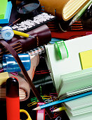 Background of Stationery Items