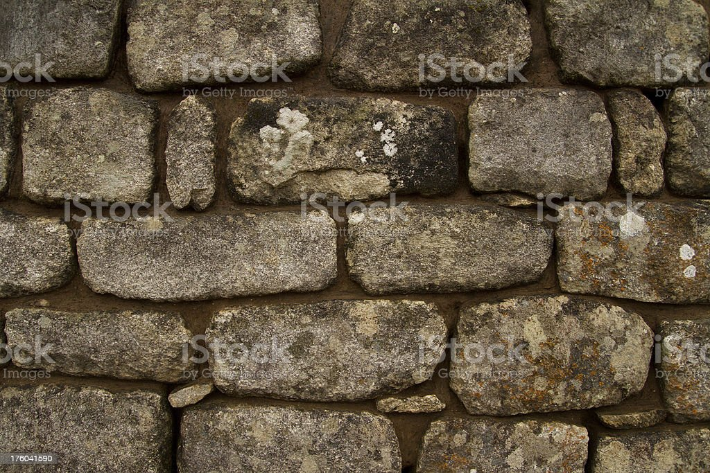 Background of stone wall texture Inca construction royalty-free stock photo