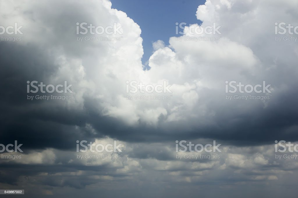 Background of storm clouds before a thunder storm. stock photo