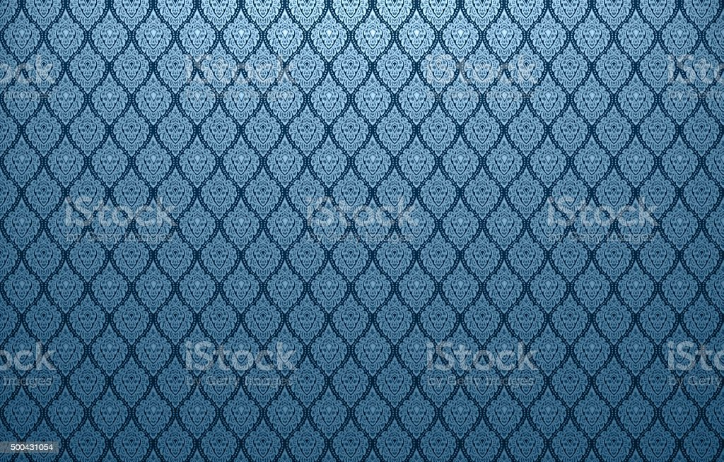 Background of Thai style fabric pattern with golden stock photo