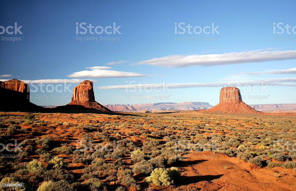 Background of the Monument Valley royalty-free stock photo
