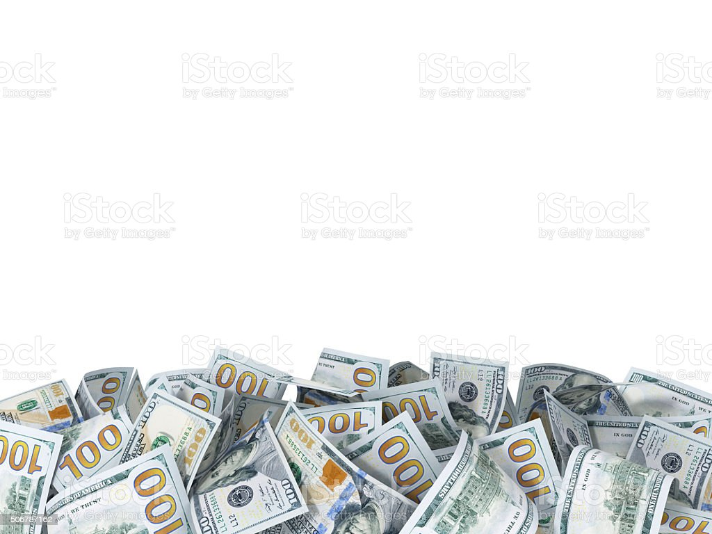 background of the new dollar bills stock photo