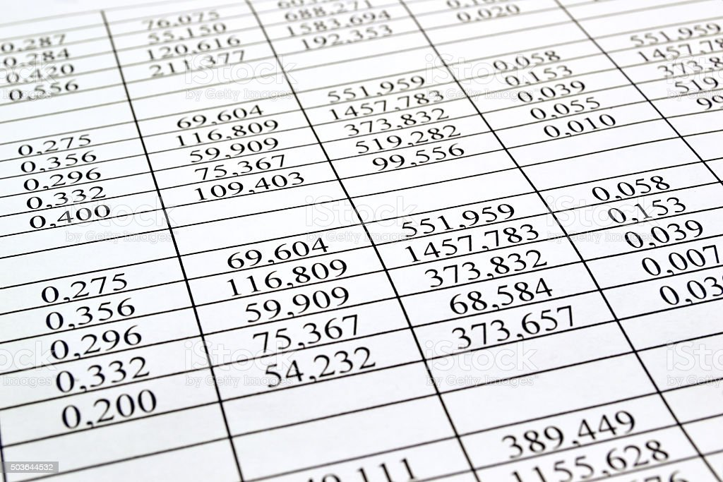 Background of the numbers on sheets  paper stock photo