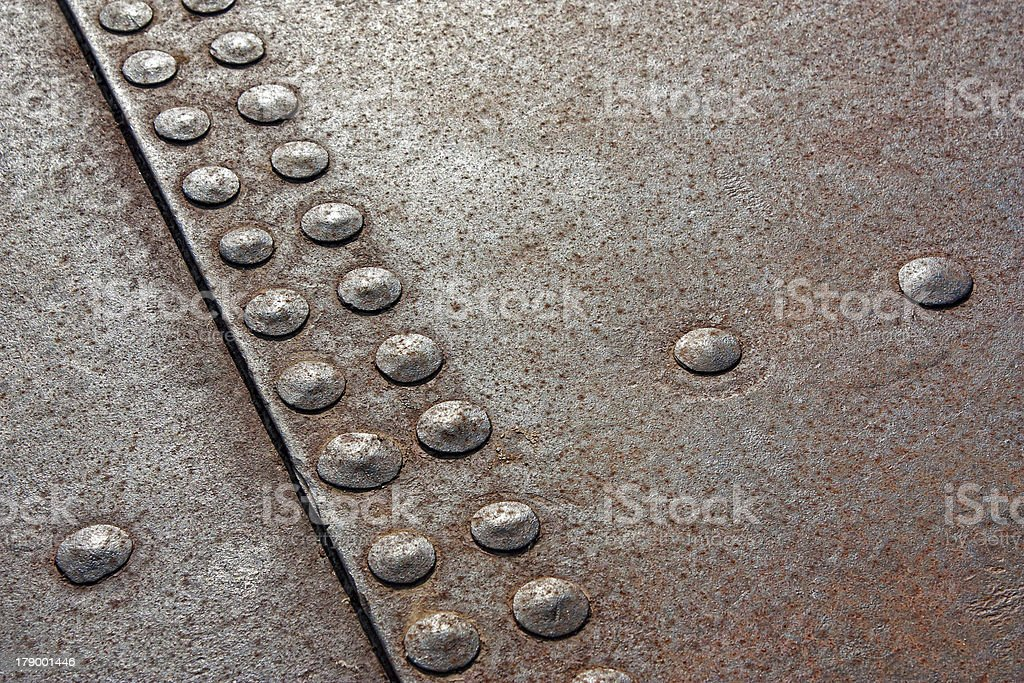background of the rivets royalty-free stock photo