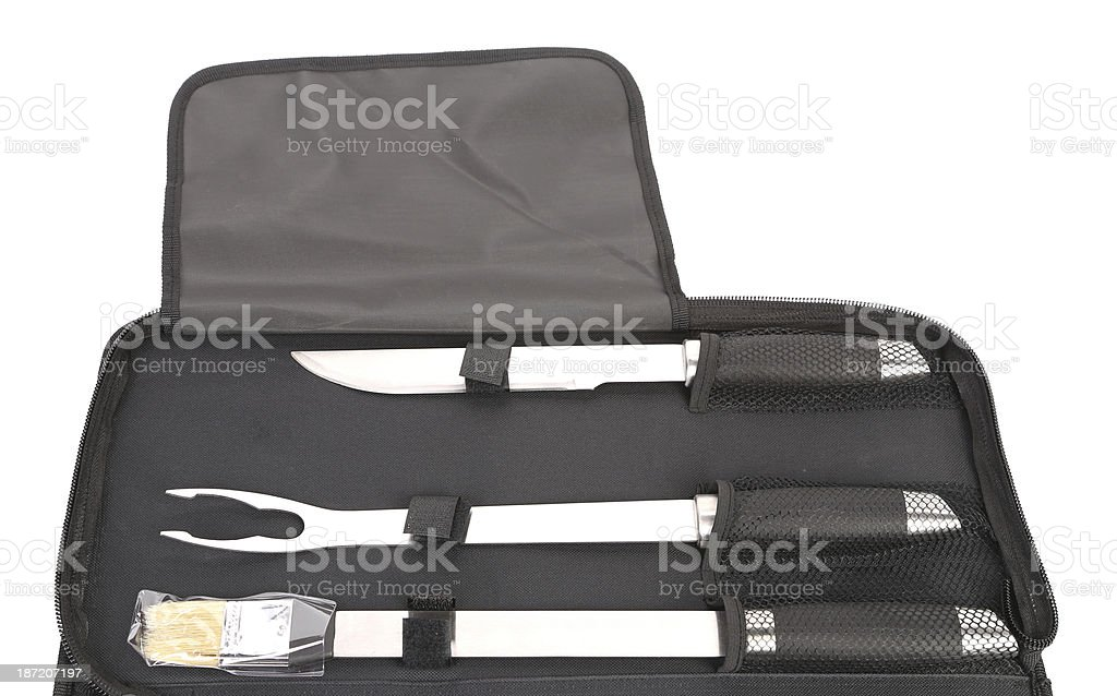Background of tools for bbq royalty-free stock photo