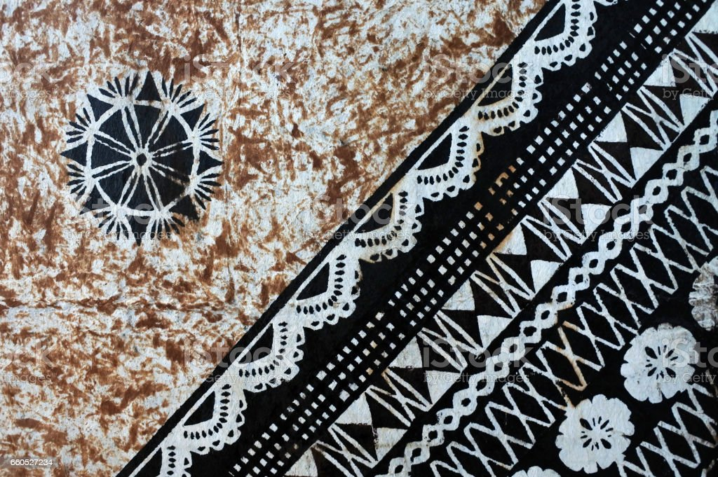 Background of traditional Pacific Island tapa cloth stock photo