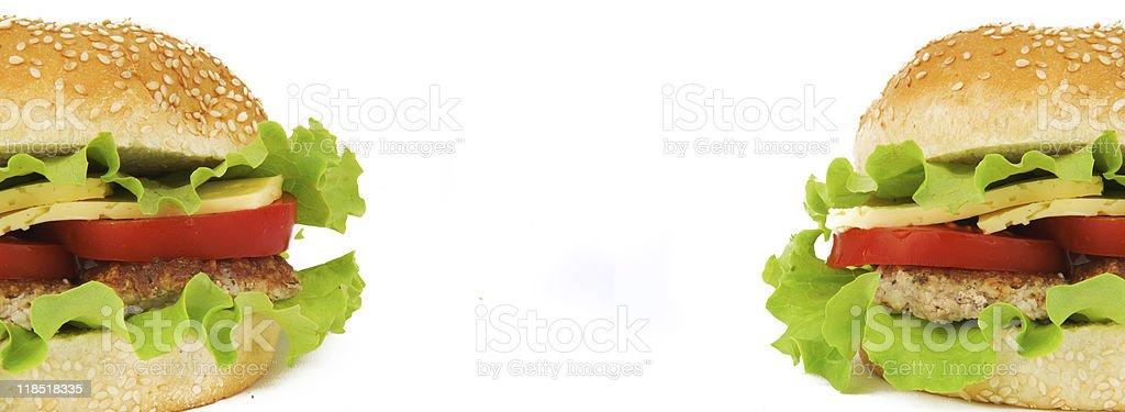 background of two hamburgers royalty-free stock photo