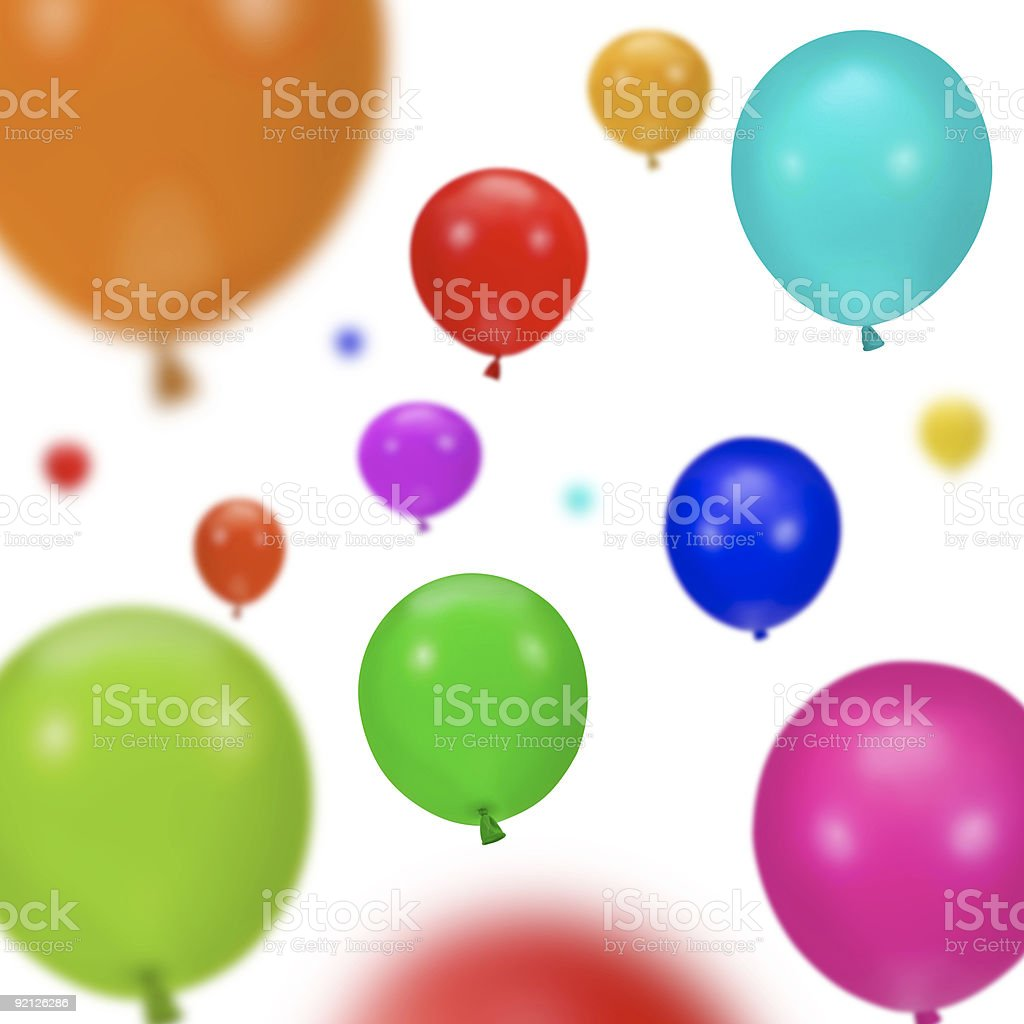 Background of various colorful party balloons royalty-free stock photo