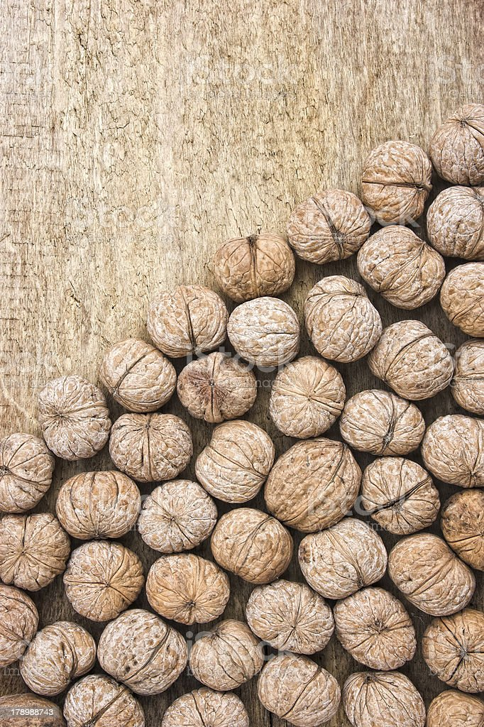 background of walnuts royalty-free stock photo