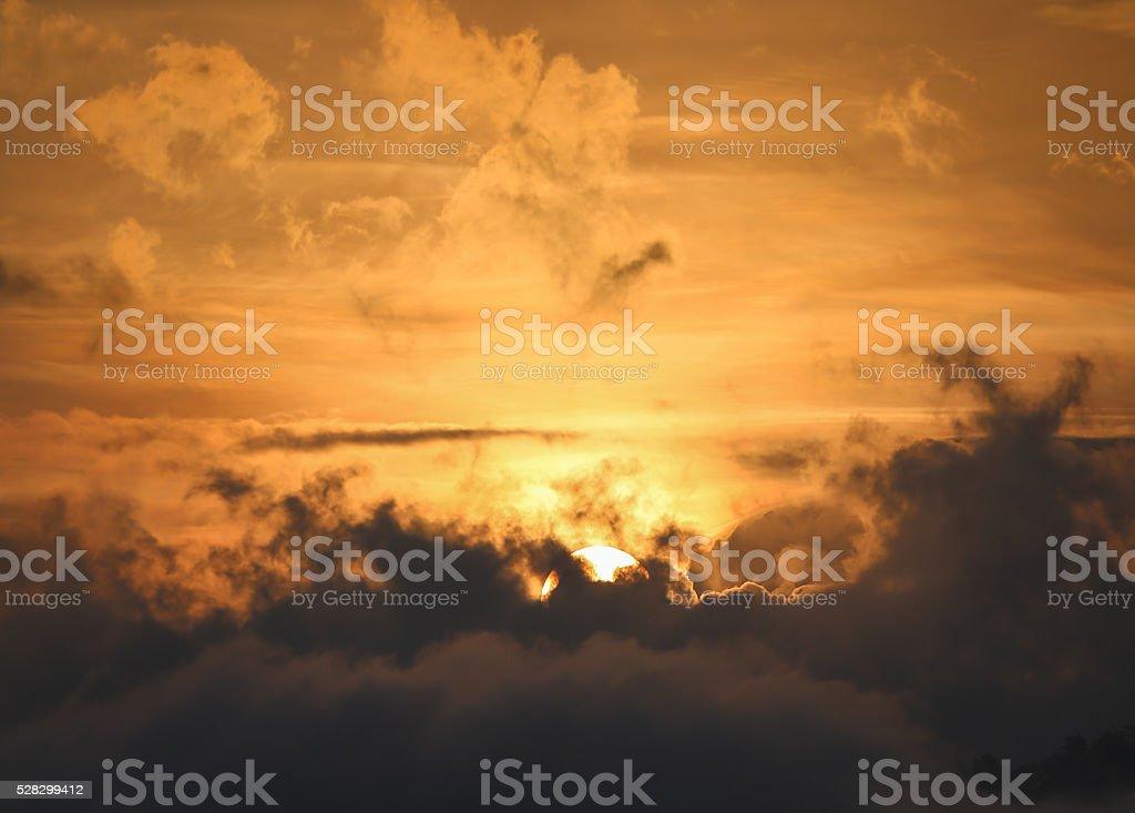 Background of warm morning sky stock photo