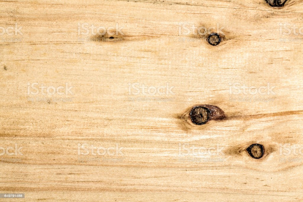 Background of weathered wood with knots stock photo