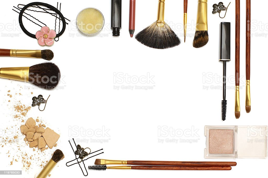 Background of women's Accessories royalty-free stock photo