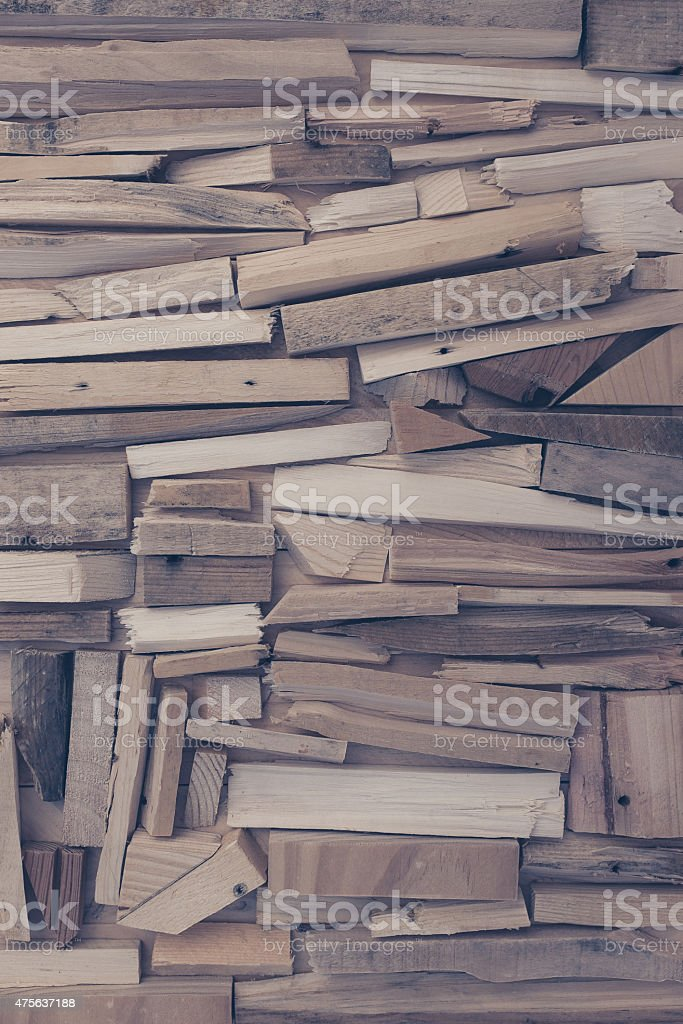background of wood pieces stock photo