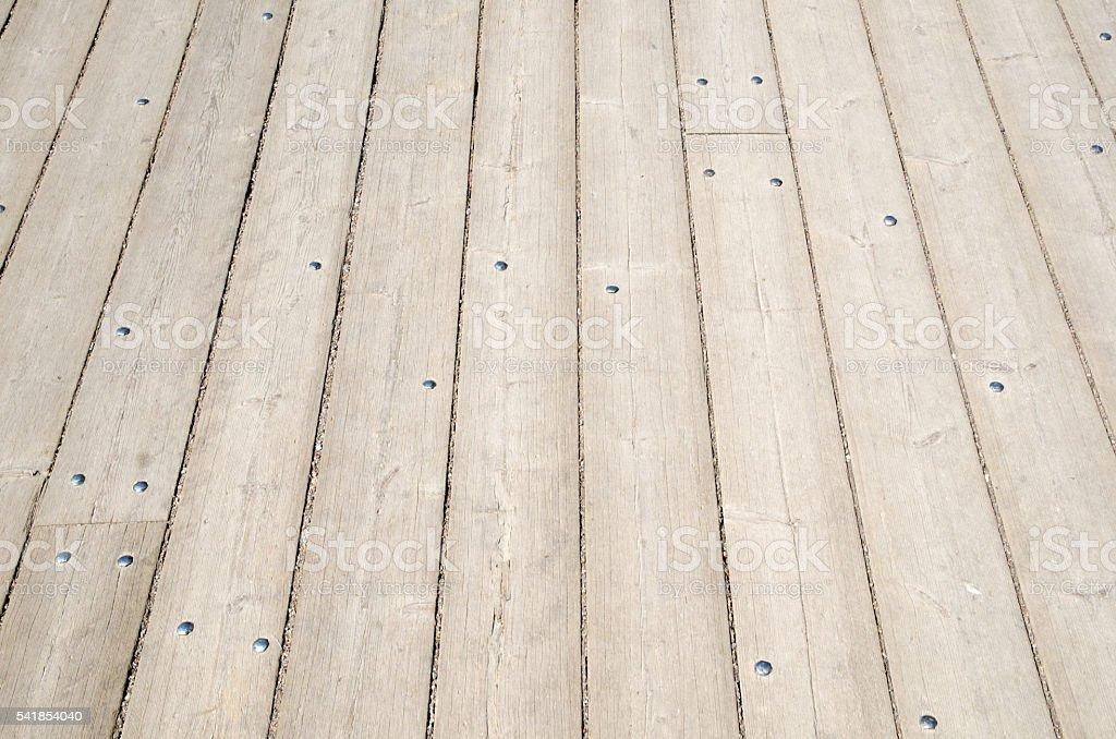 Background of wooden plank floor stock photo