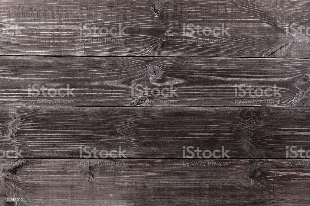 Background of wooden planks black color. stock photo