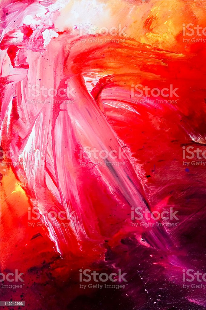 Background oil painting-Solar Flare royalty-free stock photo