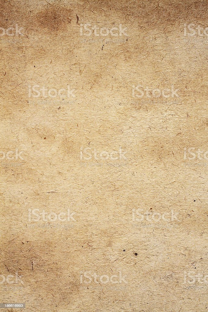 Background: Old, textured paper royalty-free stock photo