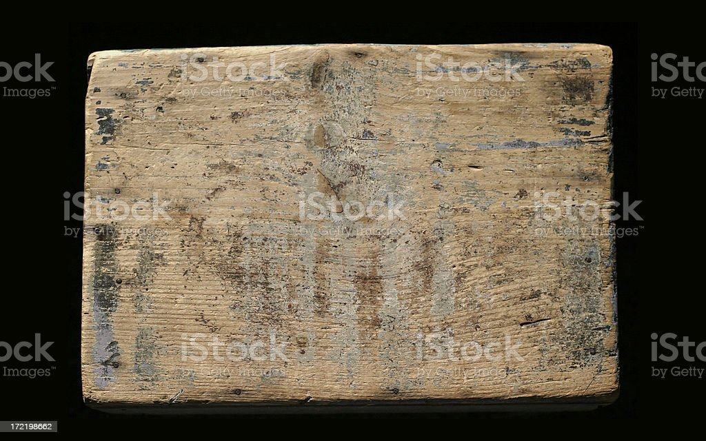 Background: Old Wooden Sign Plank royalty-free stock photo