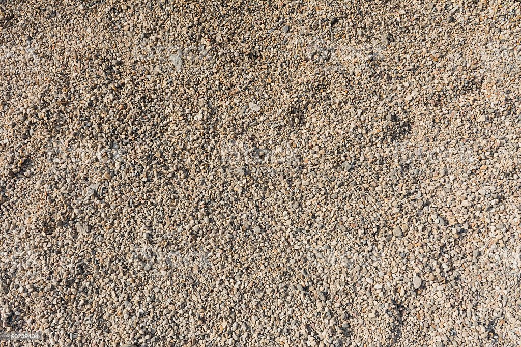 Background or texture of pebbles or gravel stock photo
