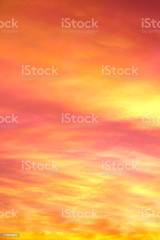 Background - Orange Clouds at sunset stock photo