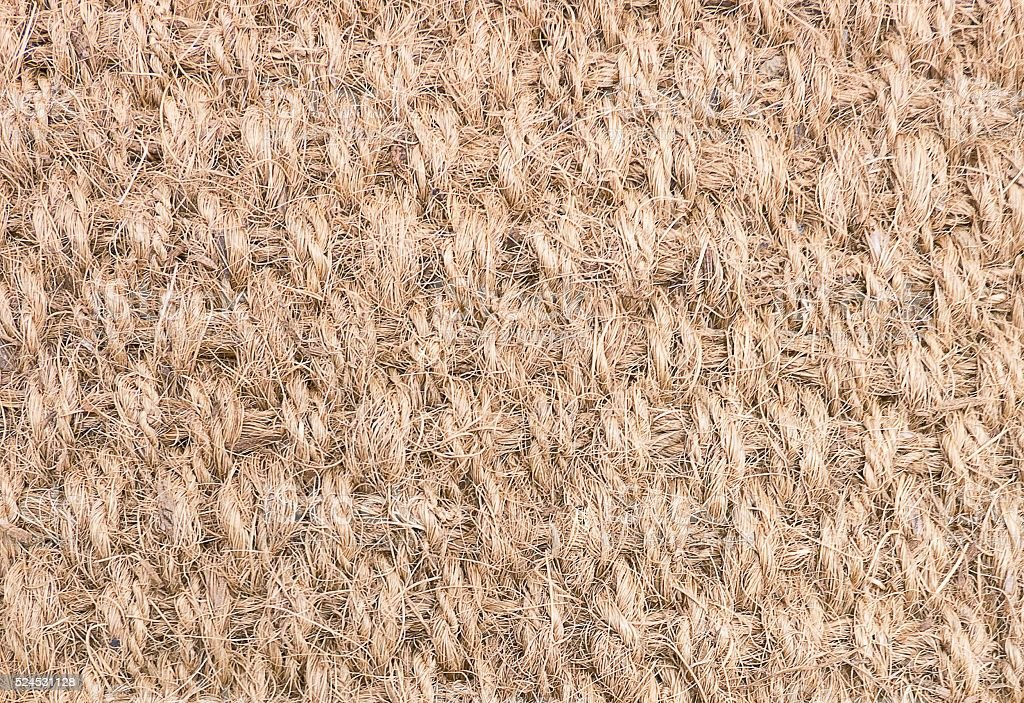 Background Pattern of Brown Woven Rope Texture stock photo
