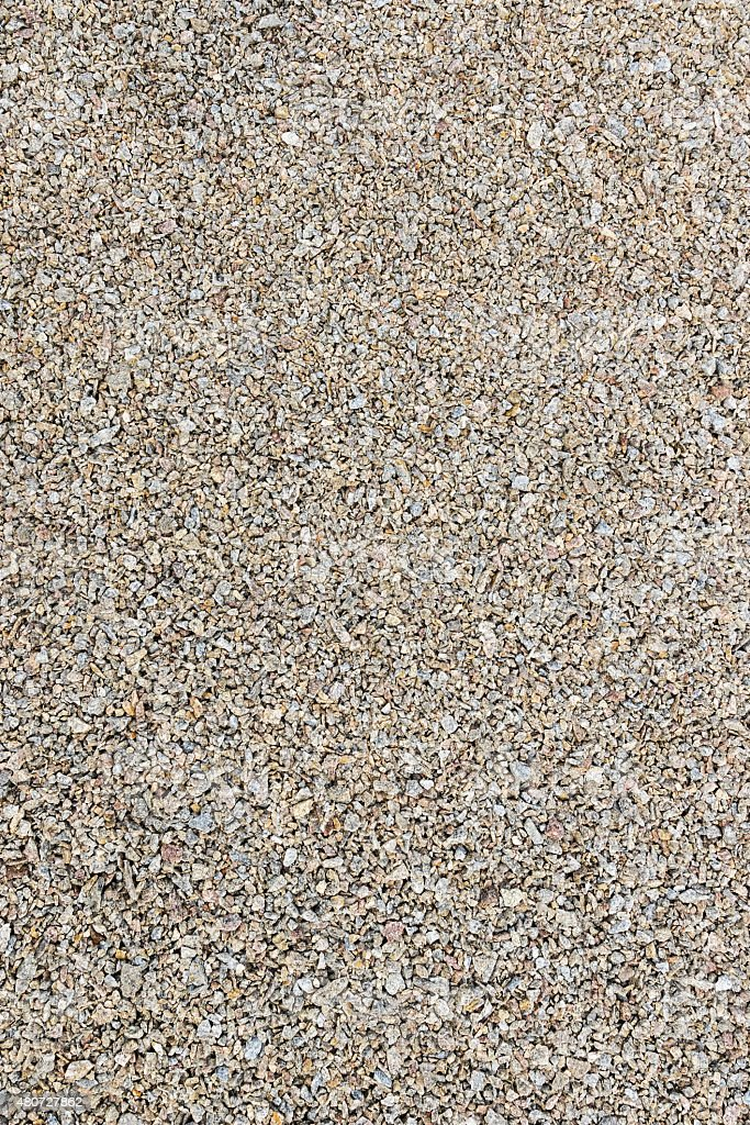 Background pea gravel brown stock photo