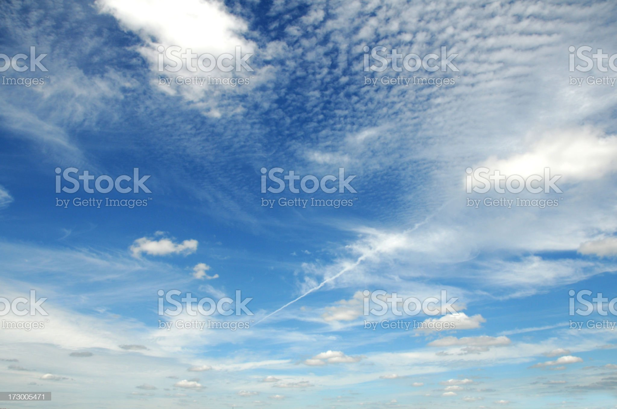 Background photo of blue sky with thin clouds royalty-free stock photo