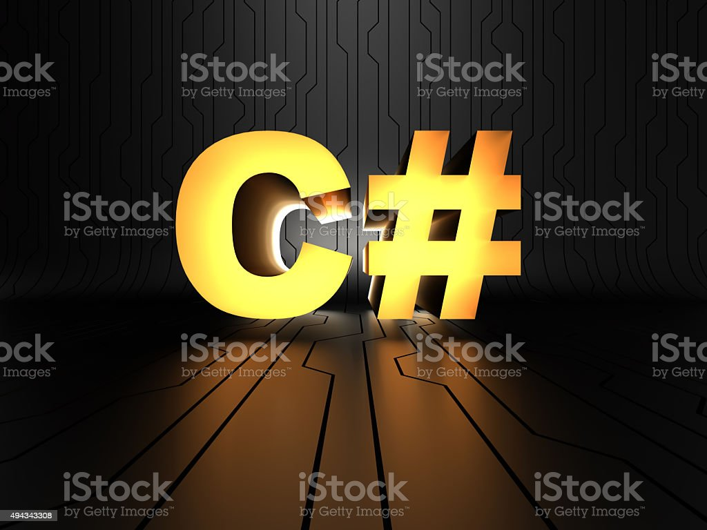 C# (C sharp programming language) background stock photo