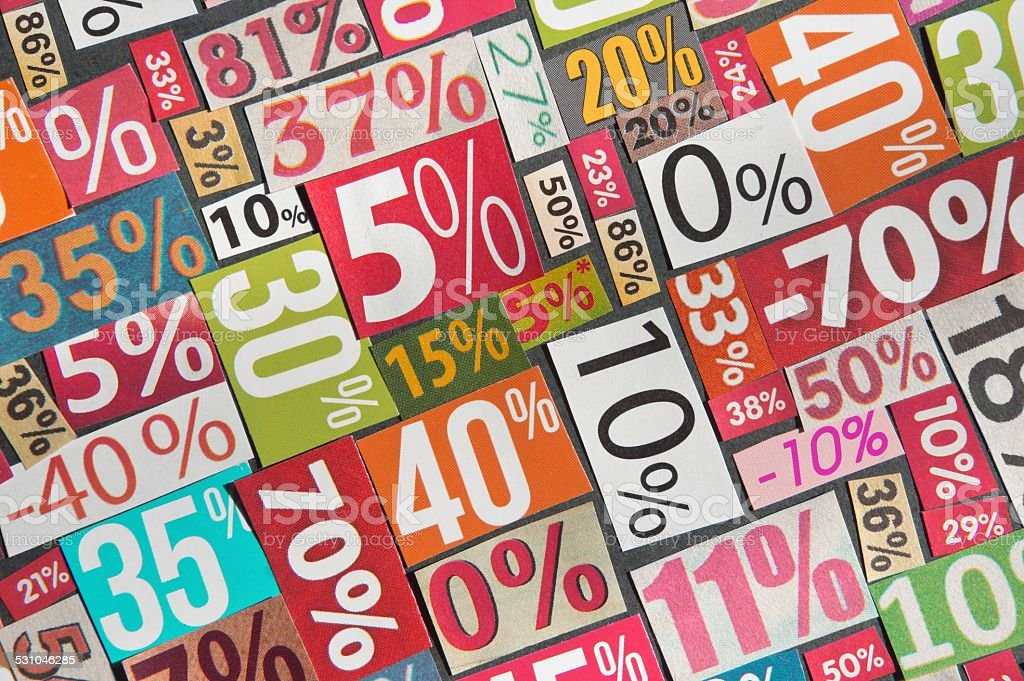 PERCENTAGES background stock photo