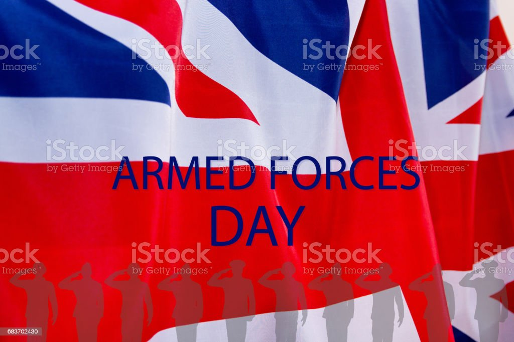 ARMED FORCES DAY UK background. stock photo