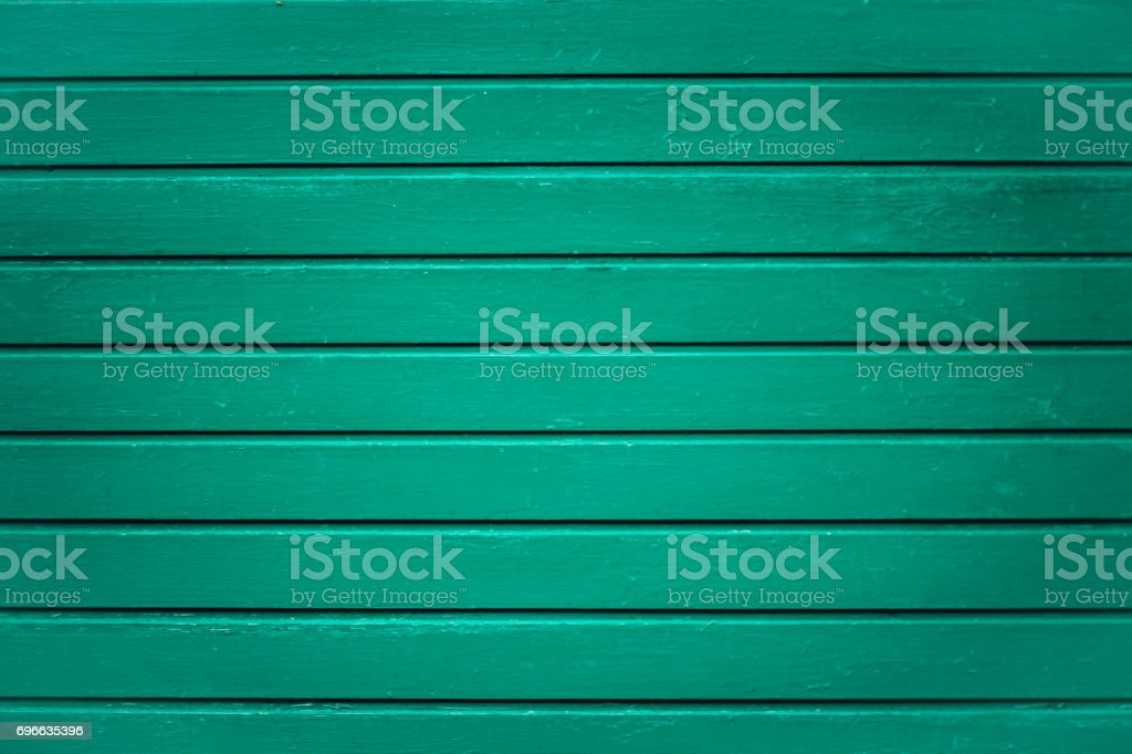 Background picture made of old green wood boards stock photo