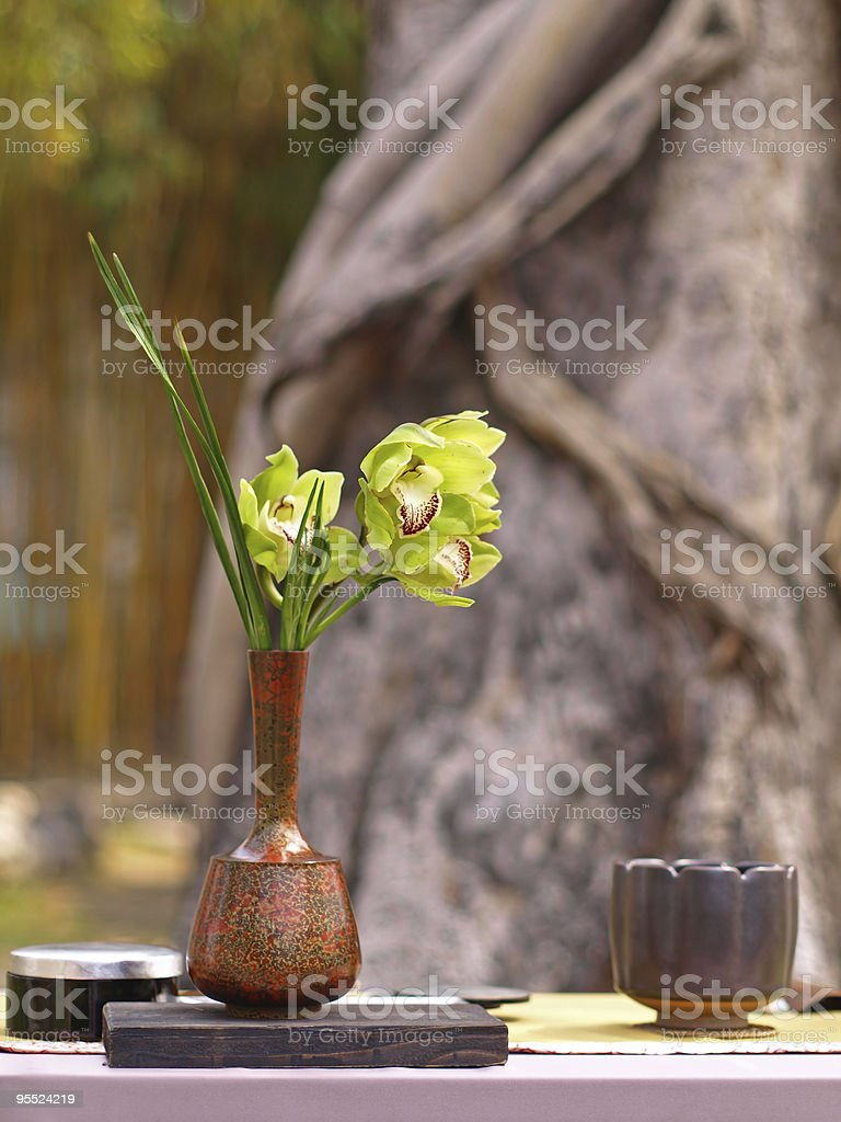 Background Picture of Ikebana royalty-free stock photo