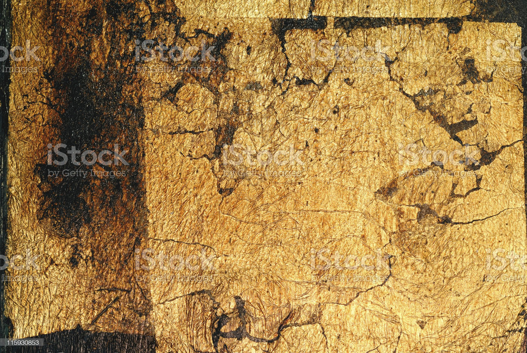 Background, real gold leaf royalty-free stock photo