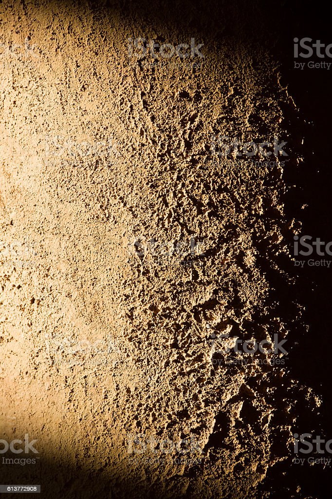 Background, rough wall texture in side light stock photo