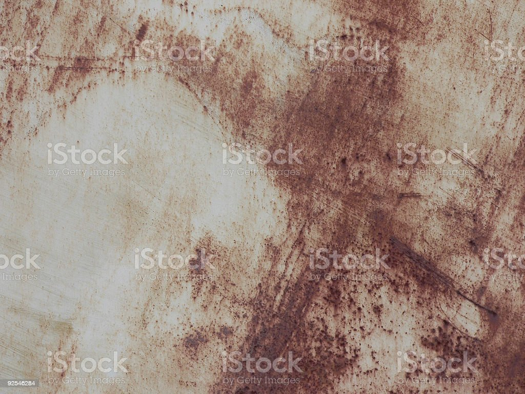 Background - rust streaked white metal door royalty-free stock photo