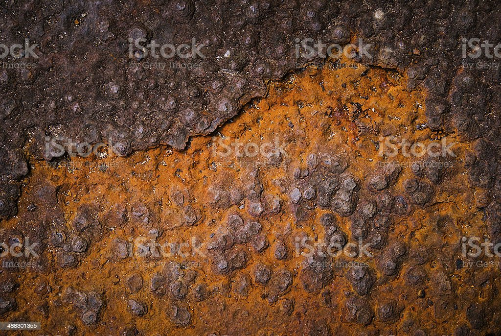 Background: rusty metal step royalty-free stock photo