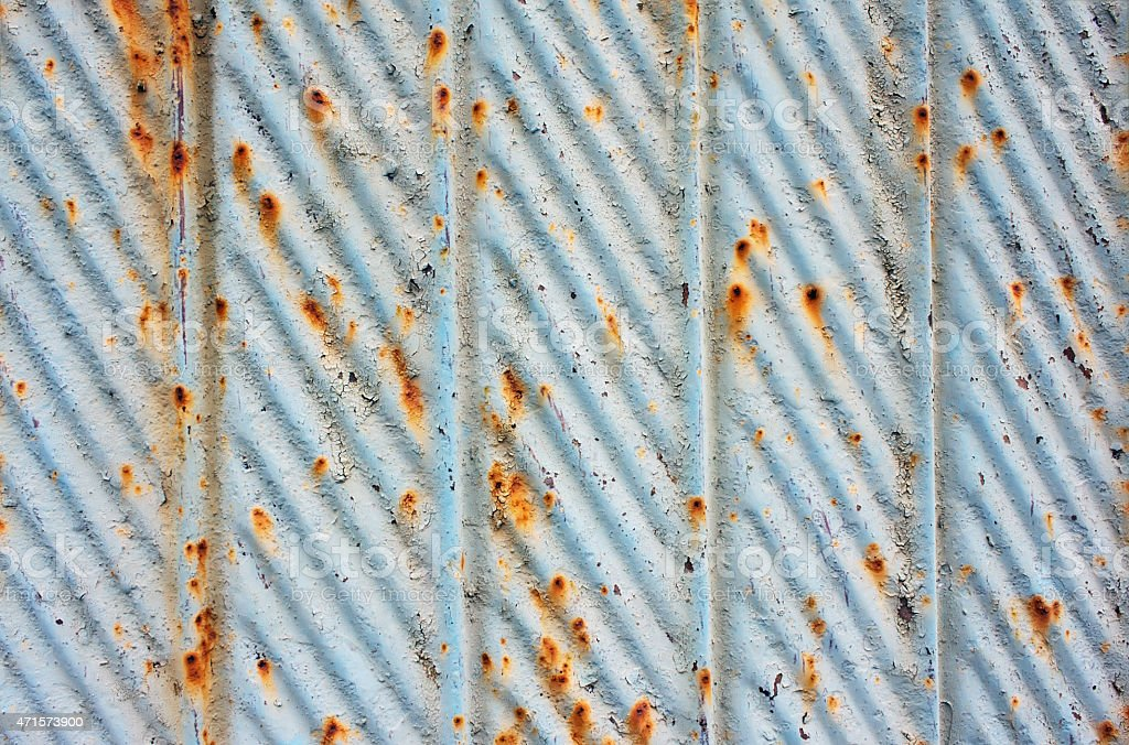 background sheet steel with elements of rust stock photo