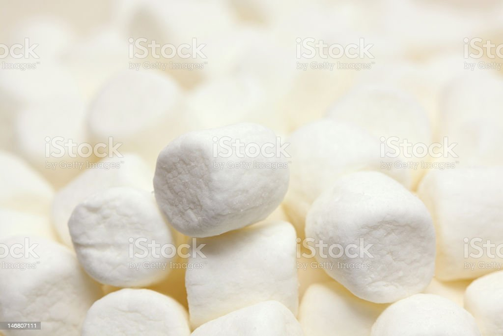 Background showing a pile of white marshmallows royalty-free stock photo