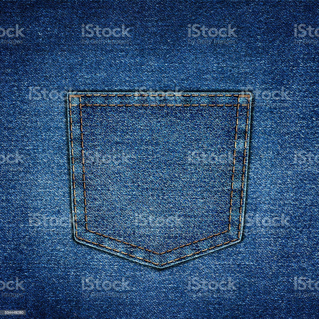 background simple denim with pocket close-up stock photo