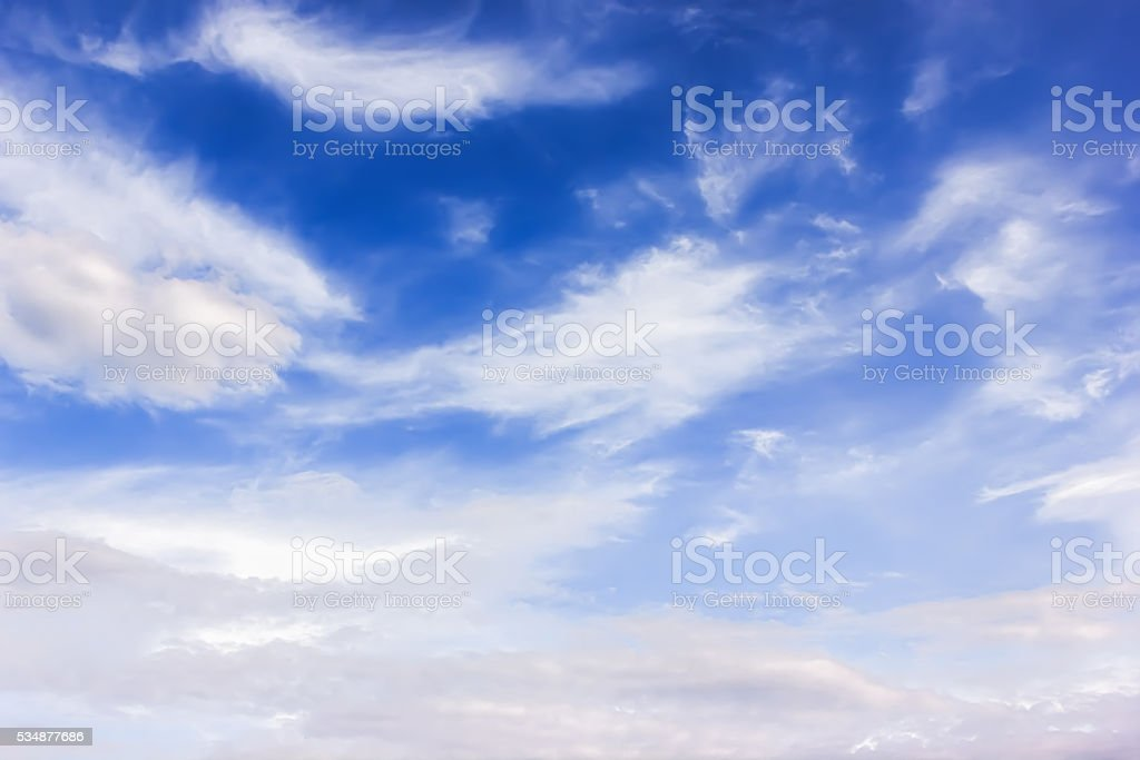 Background: sky with clouds stock photo