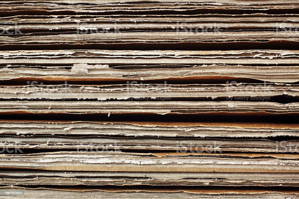 Background - Stack of cardboards royalty-free stock photo