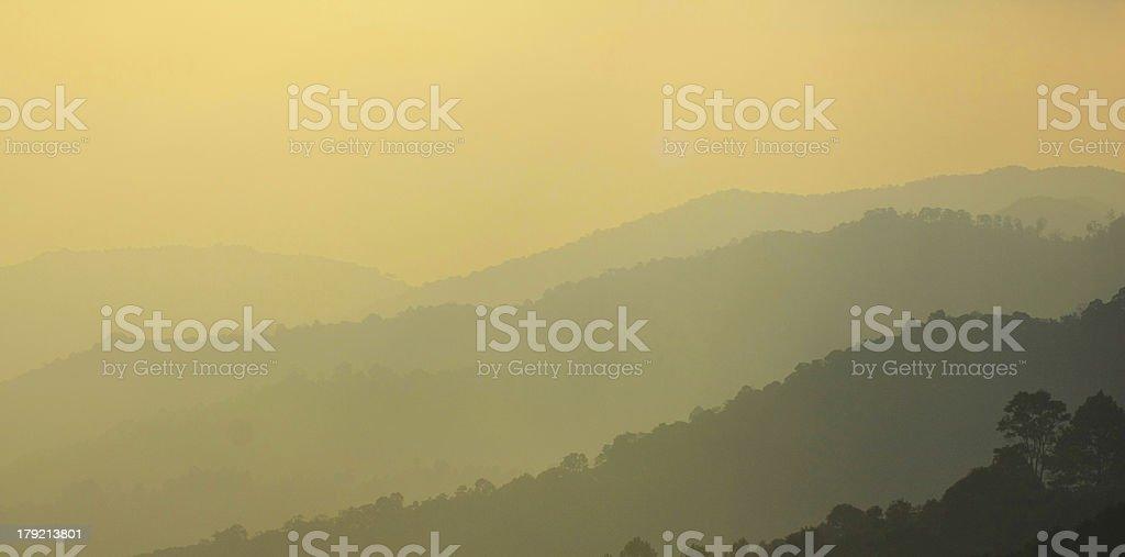 background sunset on Mountains. royalty-free stock photo