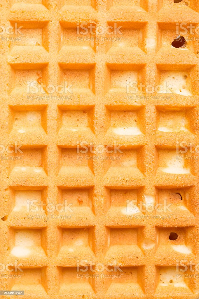 Background / surface from a Belgian waffle stock photo